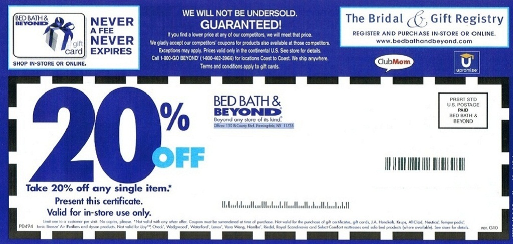 Bed bath and beyond coupon printable 2013