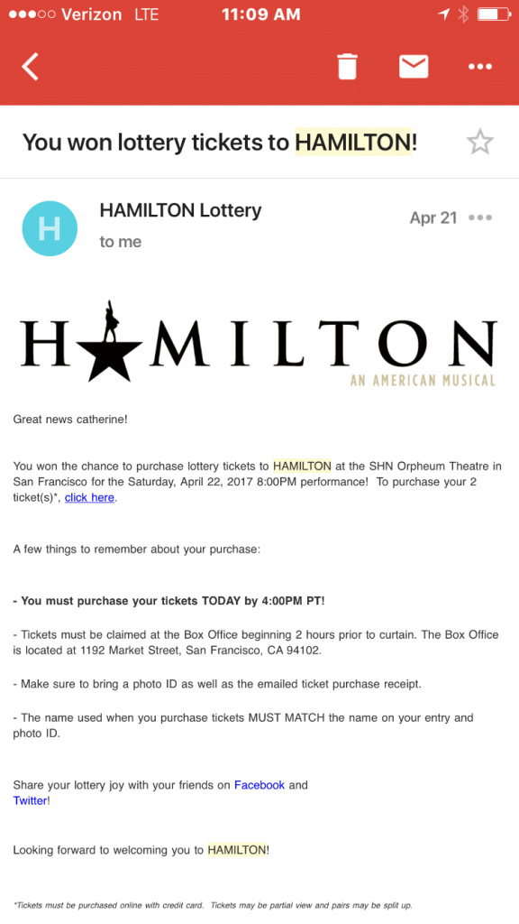 How To Win The Lottery For Hamilton Tickets